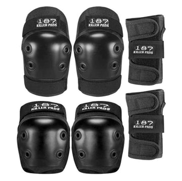 187 PAD SET BLACK - JUNIOR (KNEES,ELBOWS & WRISTS) - The Drive
