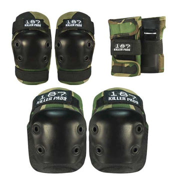 187 PAD SET CAMO - JUNIOR (KNEES,ELBOWS & WRISTS) - The Drive