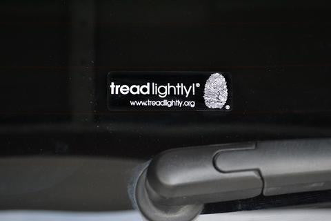 Small Tread Lightly! Decal (1X3)
