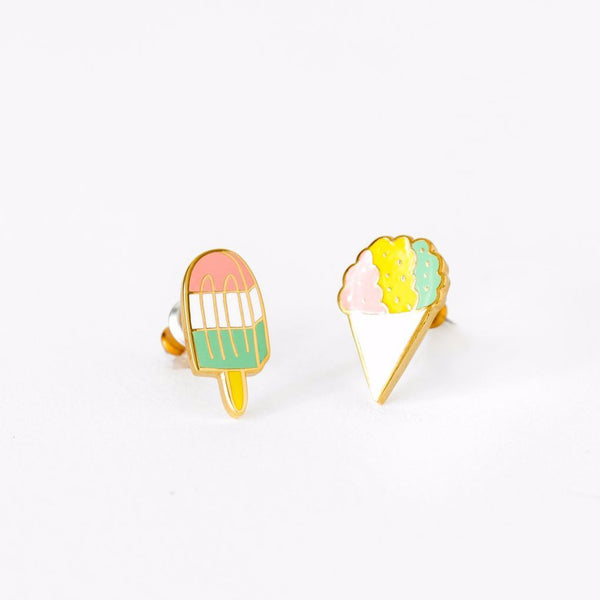"YELLOW OWL WORKSHOP - ""Sno Cone & Popsicle"" Mismatched Earrings"