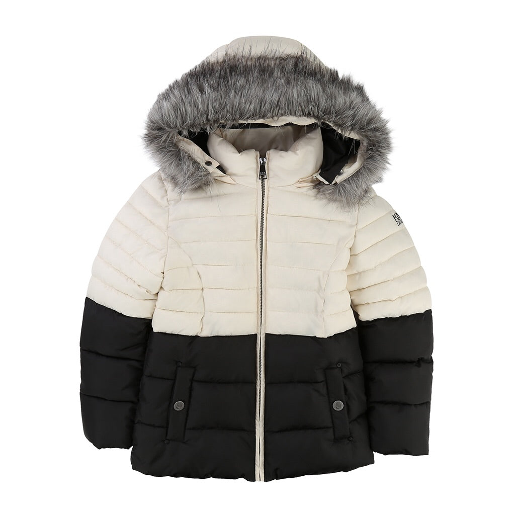 KARL LAGERFELD KIDS - Two Tone Puffer Jacket w/ Hood