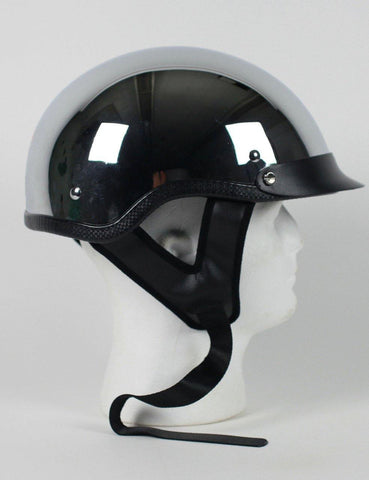 D.O.T Chrome Shorty Motorcycle Helmet