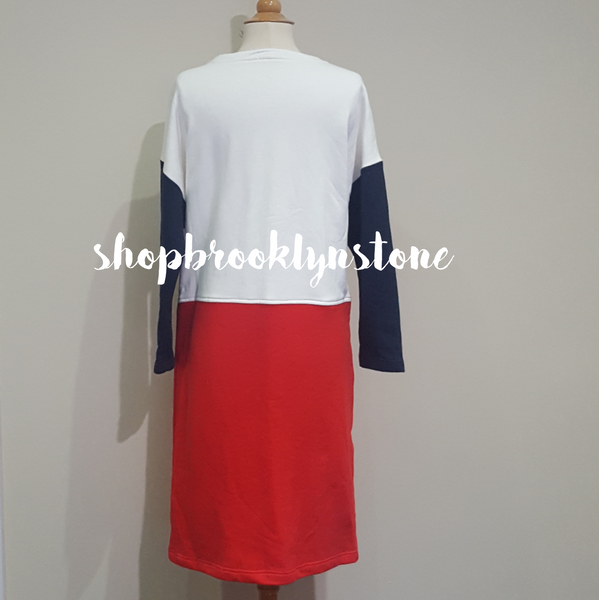 Midi Color Block Dress - SALE!!