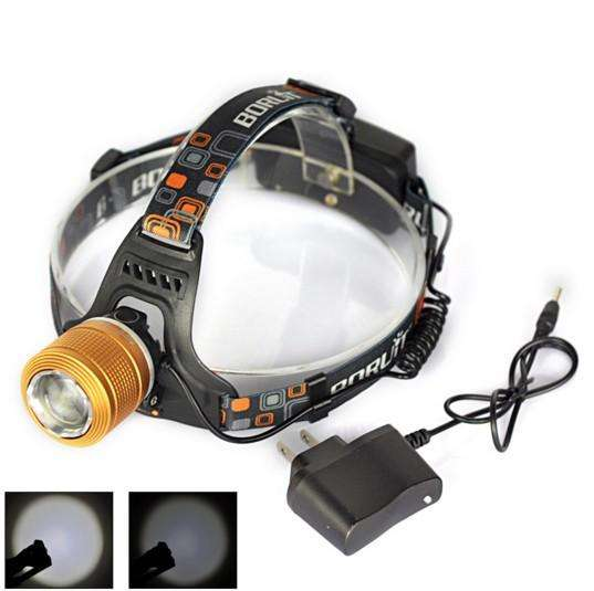 LED Headlight Adjustable Zoomable Headlamp Frontale Flashlight