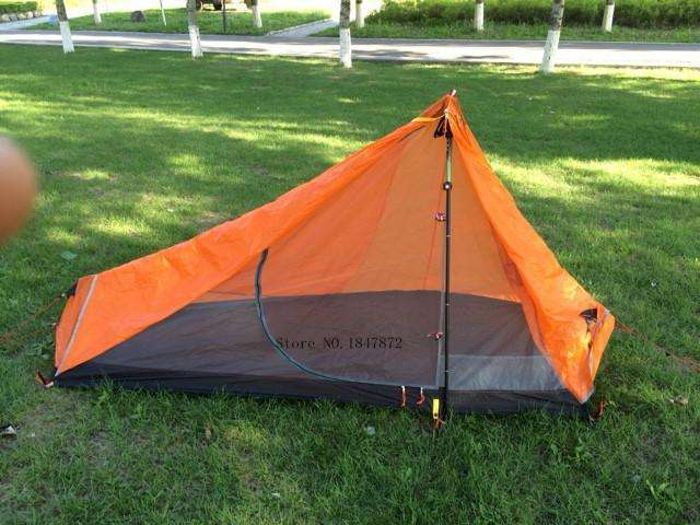 Camping Tent 3 Season 1 Single Person Professional 15D Nylon Silicon Coating Rodless Tent - Survival-Net