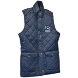 Navy Blue quilted womens bodywarmer with Institute of Quarrying logo