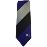 Institute of Quarrying Tie for 2017 with Institute of Quarrying Logo and Blue, Black and Silver stripes