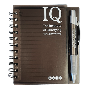 Institute of Quarrying small notebook with pen