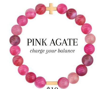 Charged Bracelet Pink Agate