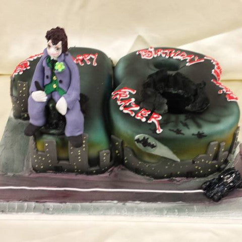 18th Joker  Numbered Birthday cake