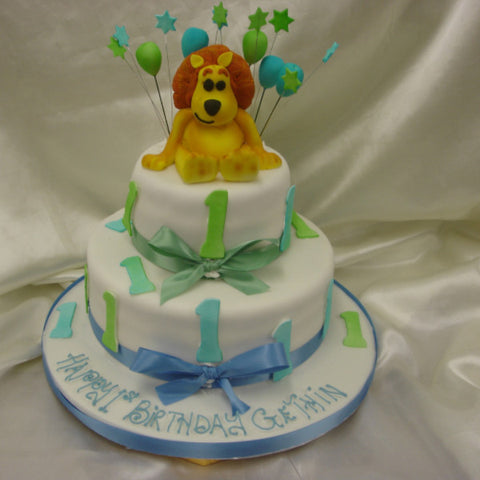 2 Tier Ra Ra Lion Childrens Cake