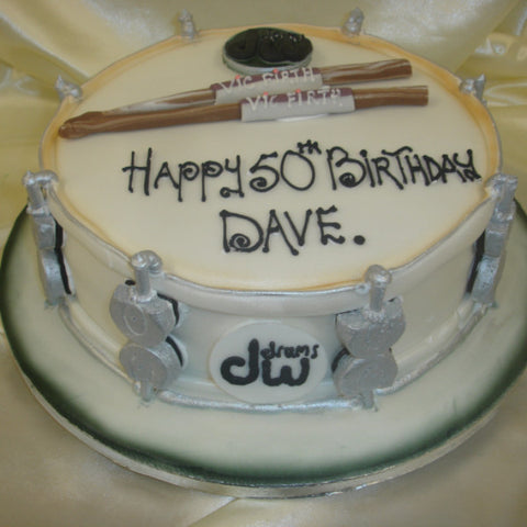 Drums Birthday Cake