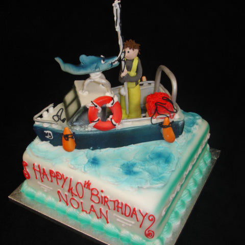 Childrens Boat Birthday Cake