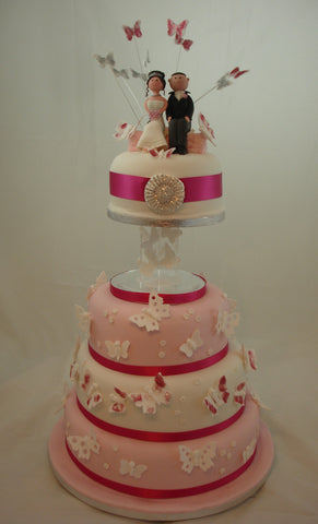 4 Tier Butterfly Wedding Cake