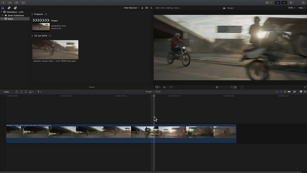 Using LUTs in Final Cut Pro X 10.4