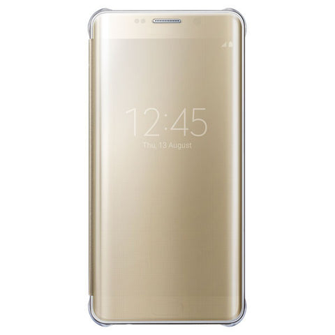 Samsung Clear View Cover pour Samsung Galaxy S6 Edge plus - Gold