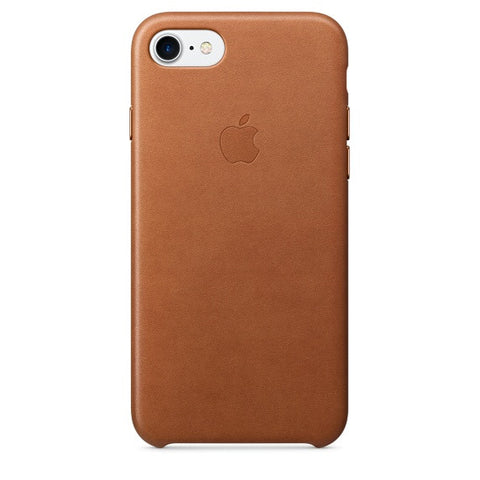 Coque d'origine Apple en cuir pour  iPhone 7  - Havane