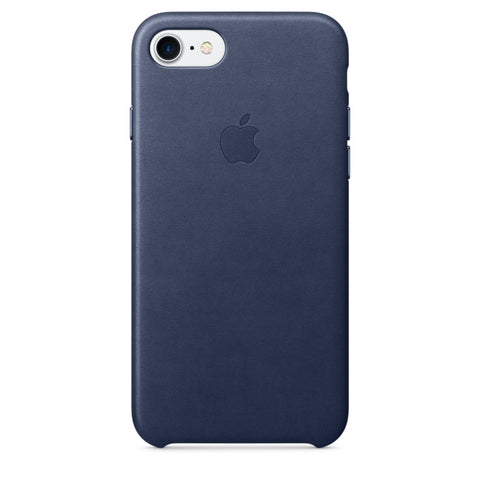 Coque d'origine Apple en cuir pour  iPhone 7  - Midnight Blue