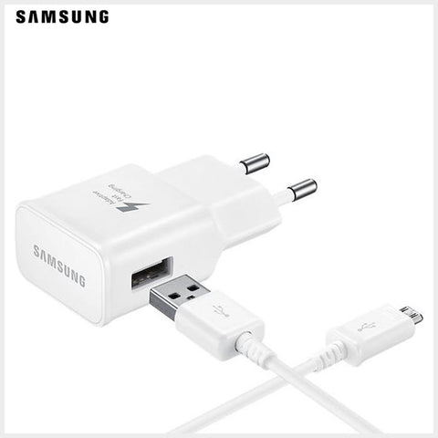 Chargeur Samsung  rapide (fast charging) avec cable  (9V, 1.6A) - Blanc