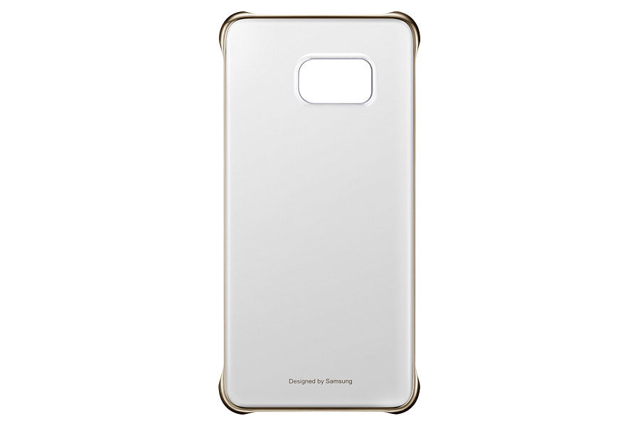Samsung Clear  Cover pour Samsung Galaxy S6 Edge plus - Gold - Le13Bis.com