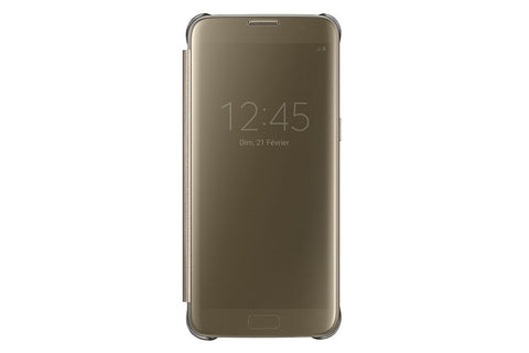 Samsung Clear View Etui pour Samsung Galaxy S7 Edge Gold