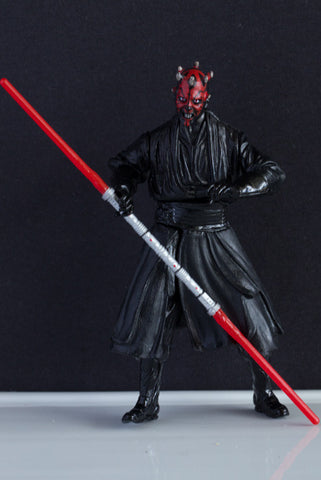 DARTH MAUL (SLASHING LIGHTSABER ACTION!) - STAR WARS MOVIE HEROES LOOSE (NM)