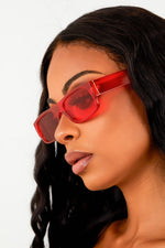 Red Transparent Sunnies