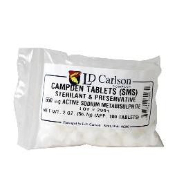 Campden Tablets Sodium Metabisulfite 100 tablets
