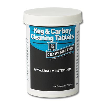Craft Meister Keg and Carboy Cleaning Tablets Bottle of 3