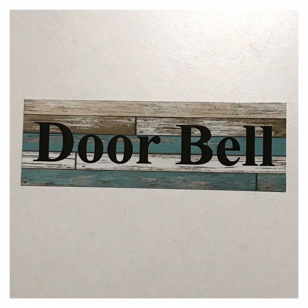Door Bell Blue Timber Style Sign Wall Plaque or Hanging - The Renmy Store