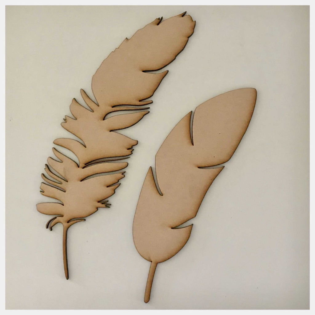 Feather Feathers MDF Timber DIY Raw Craft - The Renmy Store