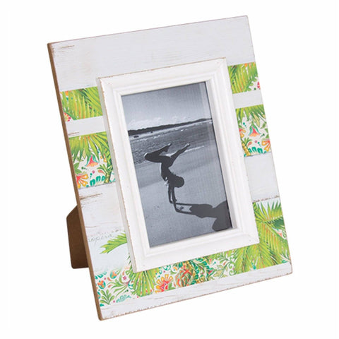 Photo Frame Wooden Tropical Palm with White Wash Timber Board - The Renmy Store