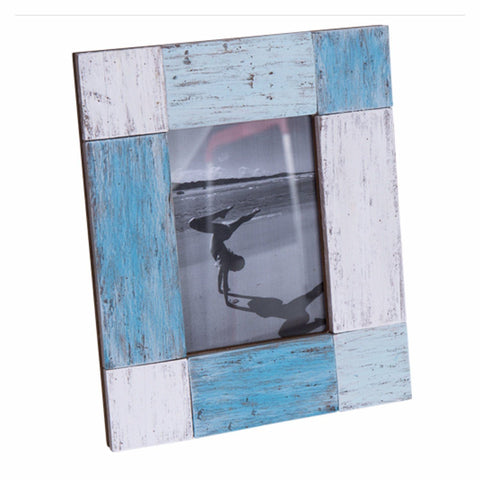 Photo Frame Wooden Vintage Rustic Timber Blue White Green Florence - The Renmy Store