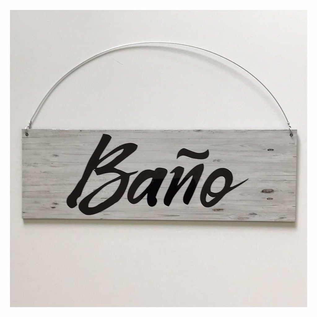 Bano Spanish Spain Toilet Rustic Vintage Sign Wall Plaque or Hanging - The Renmy Store