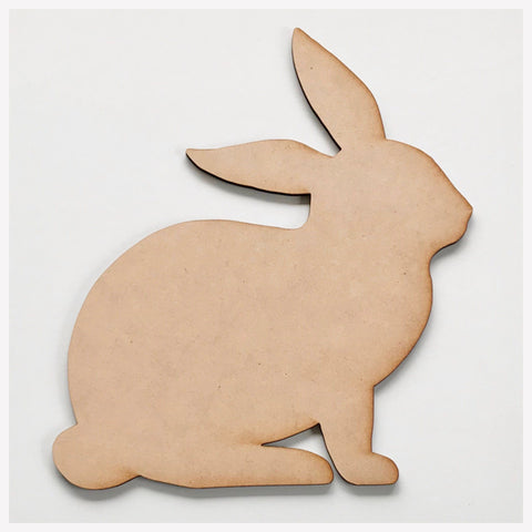 Rabbit MDF DIY Raw Cut Out Art Craft Decor - The Renmy Store