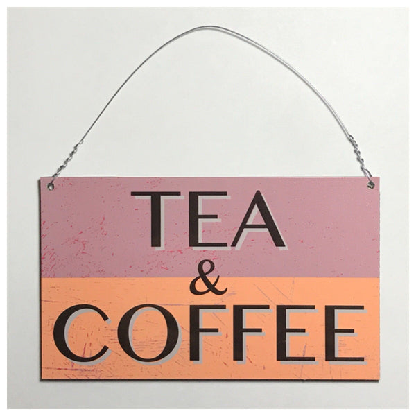 Tea & Coffee Vintage Sign Wall Plaque Or Hanging - The Renmy Store