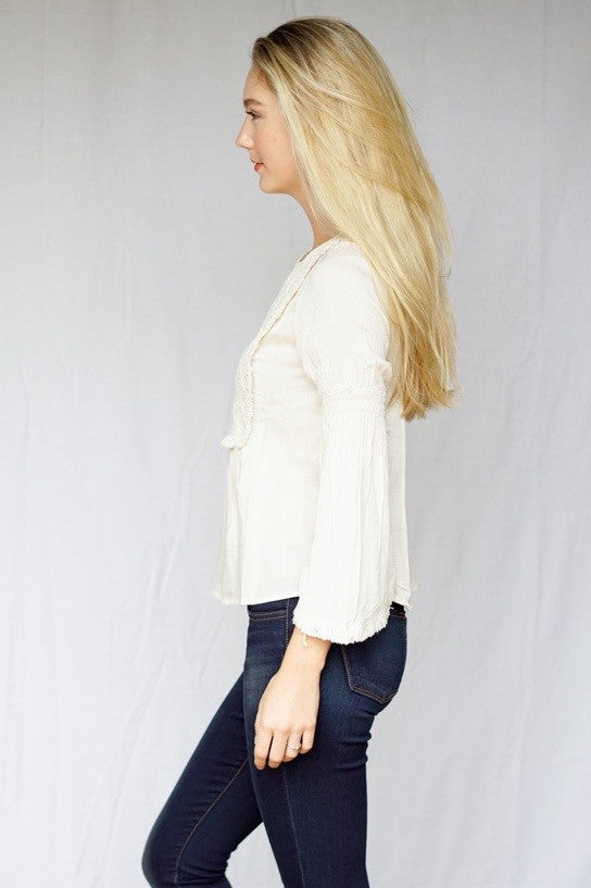 mode, Stacey detailed bib blouse