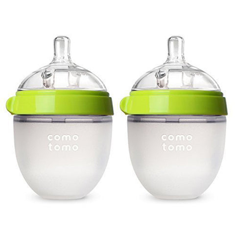 "Comotomo ""Natural Feel"" Baby Bottle (Double Pack) Green 150ml (5oz)"