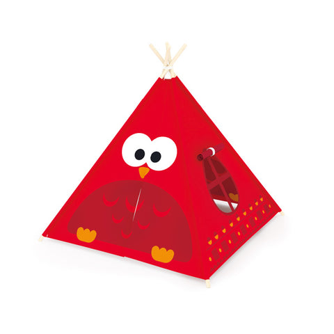 J'ADORE Owl Play Tent Red