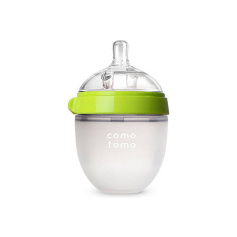 "Comotomo ""Natural Feel"" Baby Bottle (Single Pack) Green 150ml (5oz)"