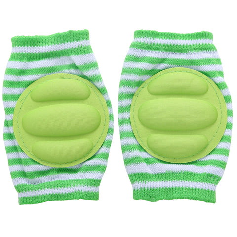 B-Safe Knee Pads Green Protective Pads (Stripes)