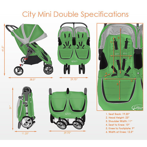 Baby Jogger City Mini Double Specs