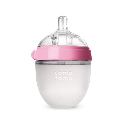 "Comotomo ""Natural Feel"" Baby Bottle (Single Pack) Pink 150ml (5oz)"