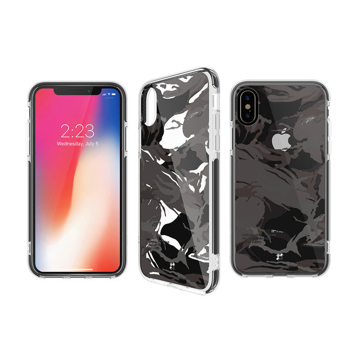 iPHONE X PRISMART IMPACT CASE: CAMO BLACK