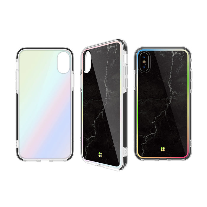 iPHONE X PRISMART IMPACT CASE: MARBLE BLACK