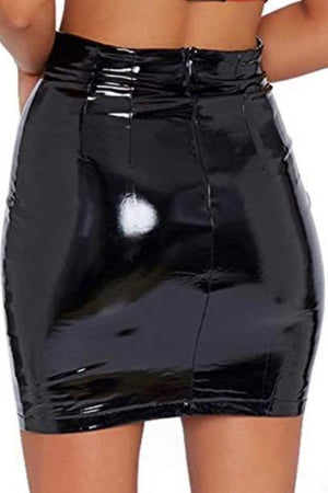 BECAUSE THE NIGTH BELONGS TO LOVERS vinyl skirt