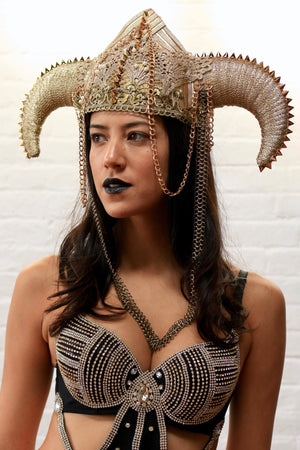 ARIES headpiece-Harmonia-burning man-burning man costumes-festival outfits-halloween costumes-Harmonia