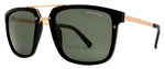 Dynasol Eyewear - Wholesale Sunglasses - PL Simone - Polarized Men Retro Square with Brow Bar Plastic Sunglasses - sunglasses