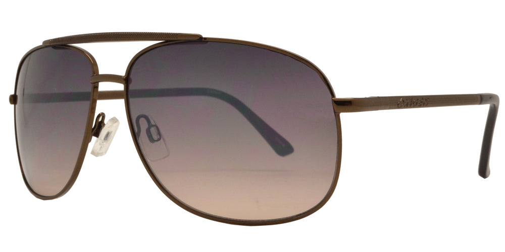 Dynasol Eyewear - Wholesale Sunglasses - OX 2840 - Square Aviator with Brow Bar Metal Sunglasses - sunglasses