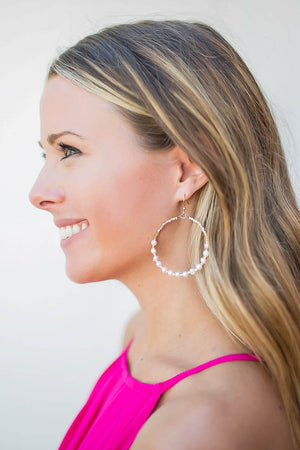 Southern Chic Beaded Hoops